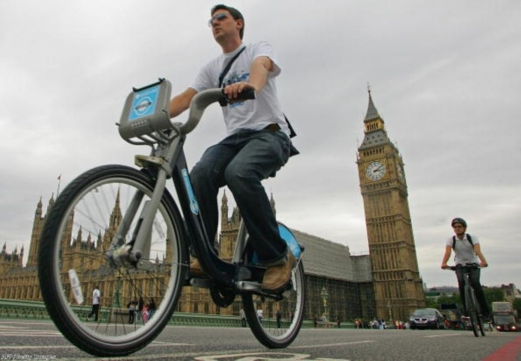 Cyclists now make up a majority of vehicles during the rush hour in some parts of London