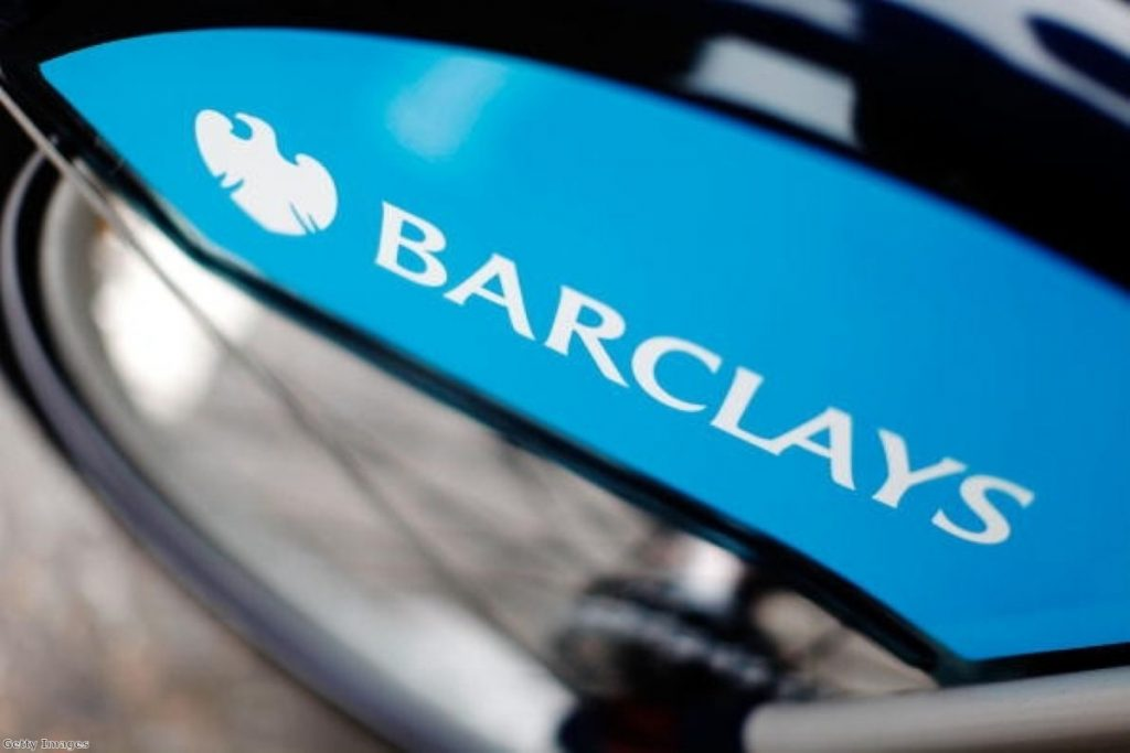 Not so clever now: The Barclays brand covers all the Boris bikes in the capital