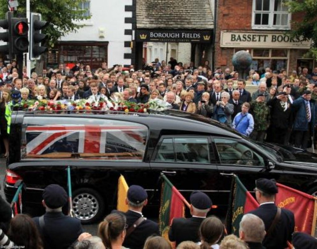 The repatriation of Lieutenant Daniel Clack on August 12th 2011