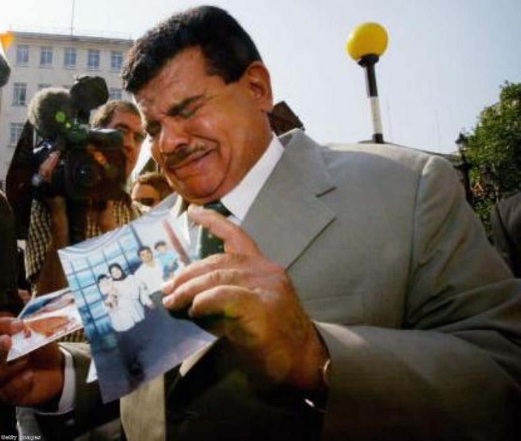 Baha Mousa's father, Daoud Moussa, at the high court in 2004