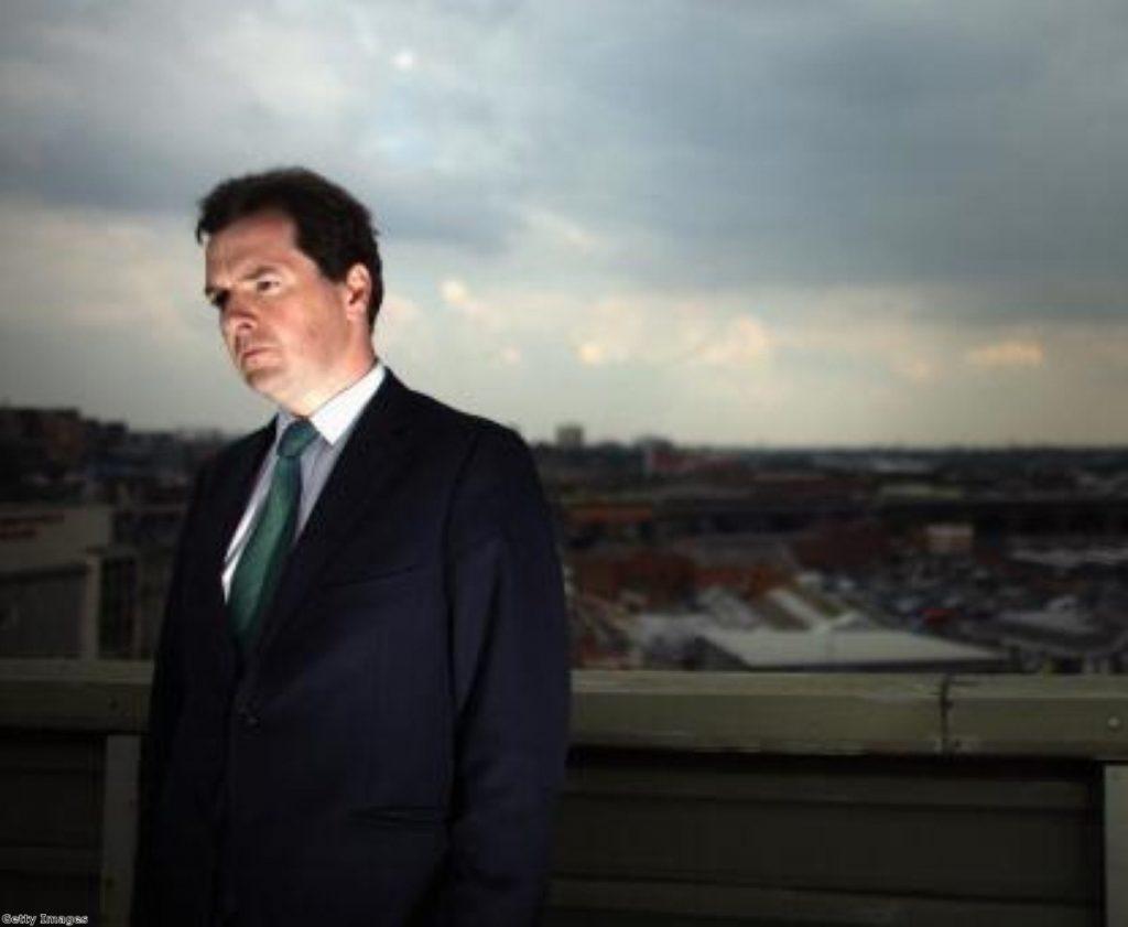 Chancellor George Osborne faces a double-dip recession