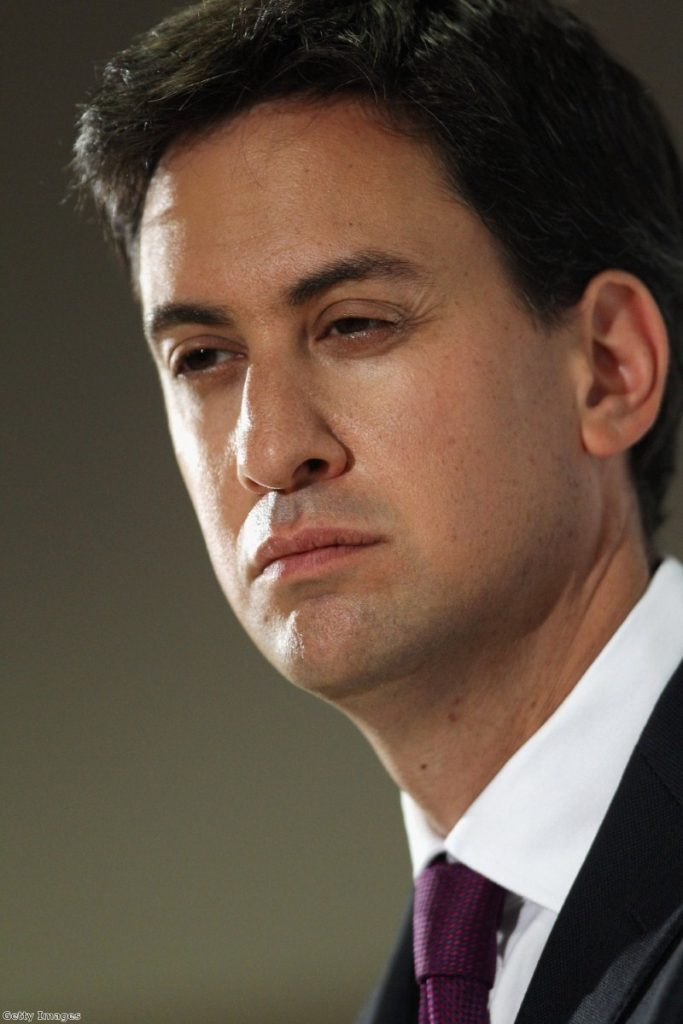 Ed Miliband struggled to hit an open goal during PMQs