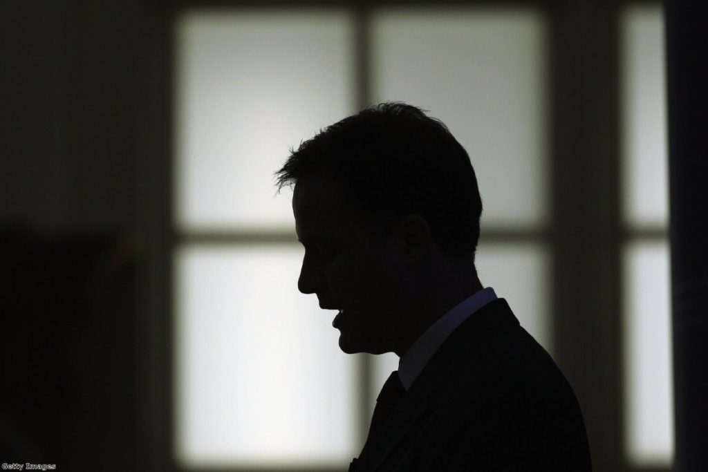 Nick Clegg during a speech to the LSE earlier this week.