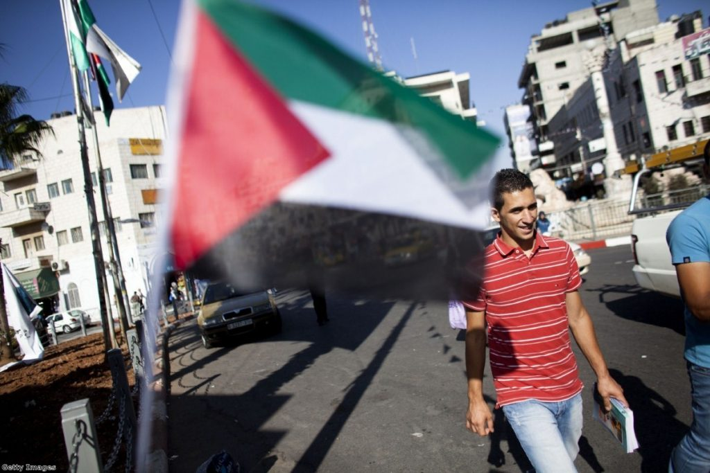 Campaigners intended to help build a school in the Palestinian territories.