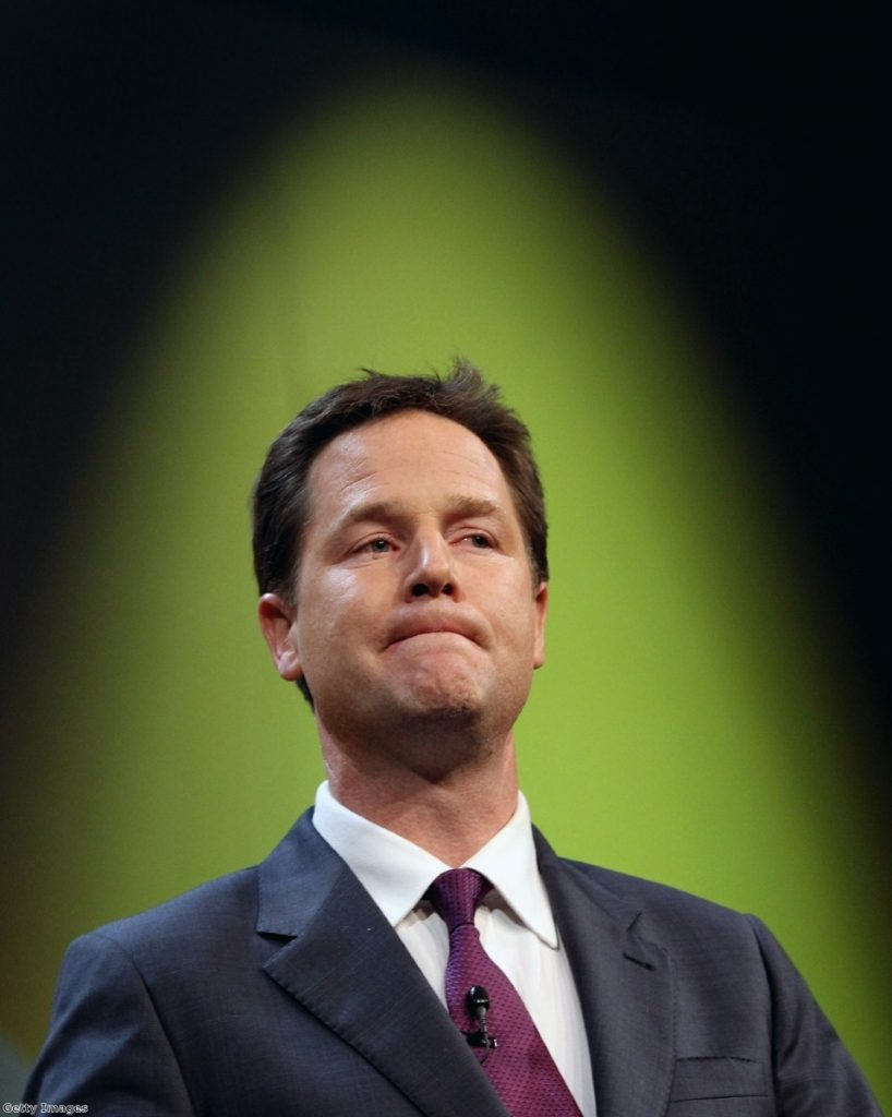Nick Clegg at the Liberal Democrat party conference.