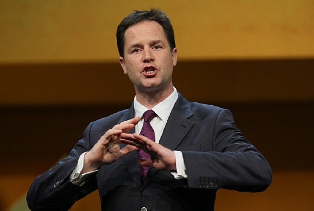 Taking the pain: Clegg will be mindful of public sector support for the Lib Dems