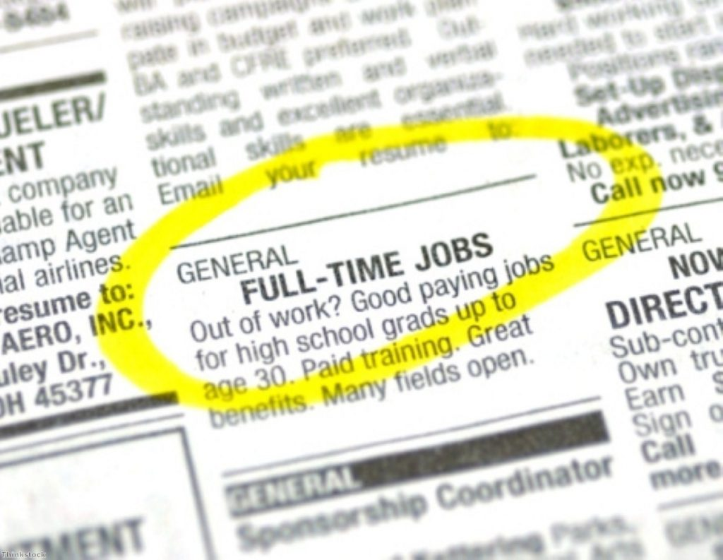 A fall in the number of full-time jobs might reflect slowed increase in unemployment rate