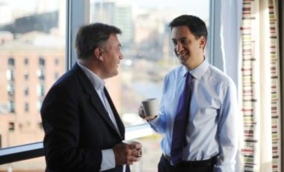 The Miliband/Balls team: not trusted on economy, but maintaining their lead