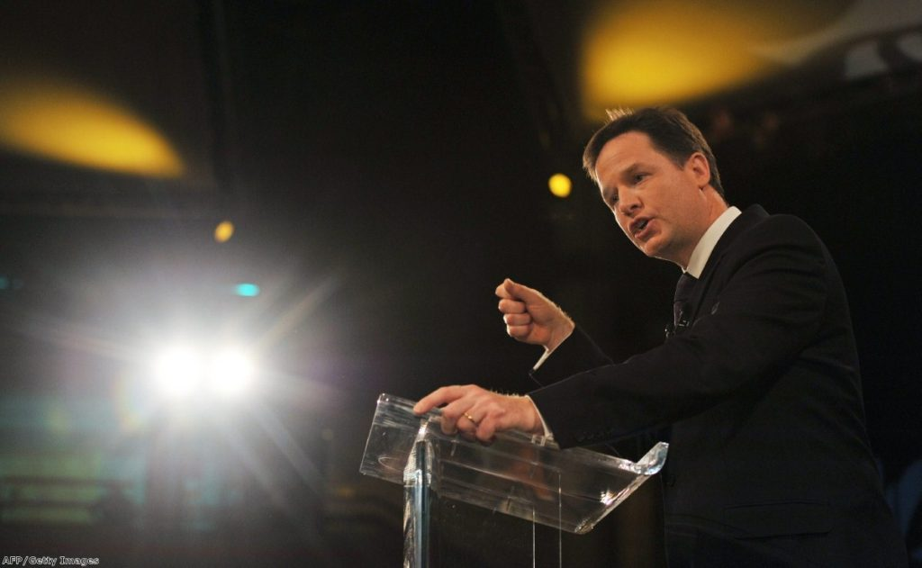 Clegg is a passionate pro-European, but the crisis will create faultlines between non-eurozone members and the rest.