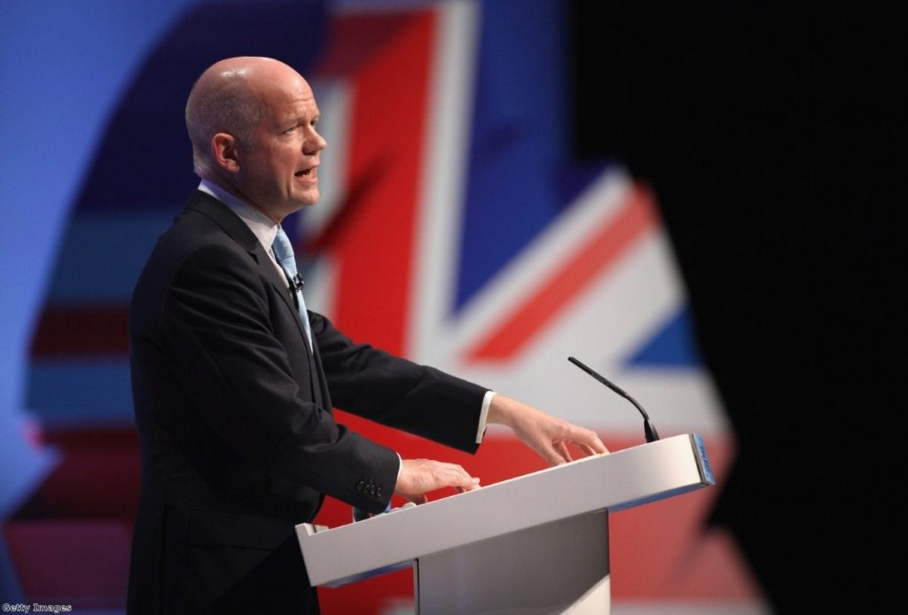 Hague offered gushing praise for his two bosses.