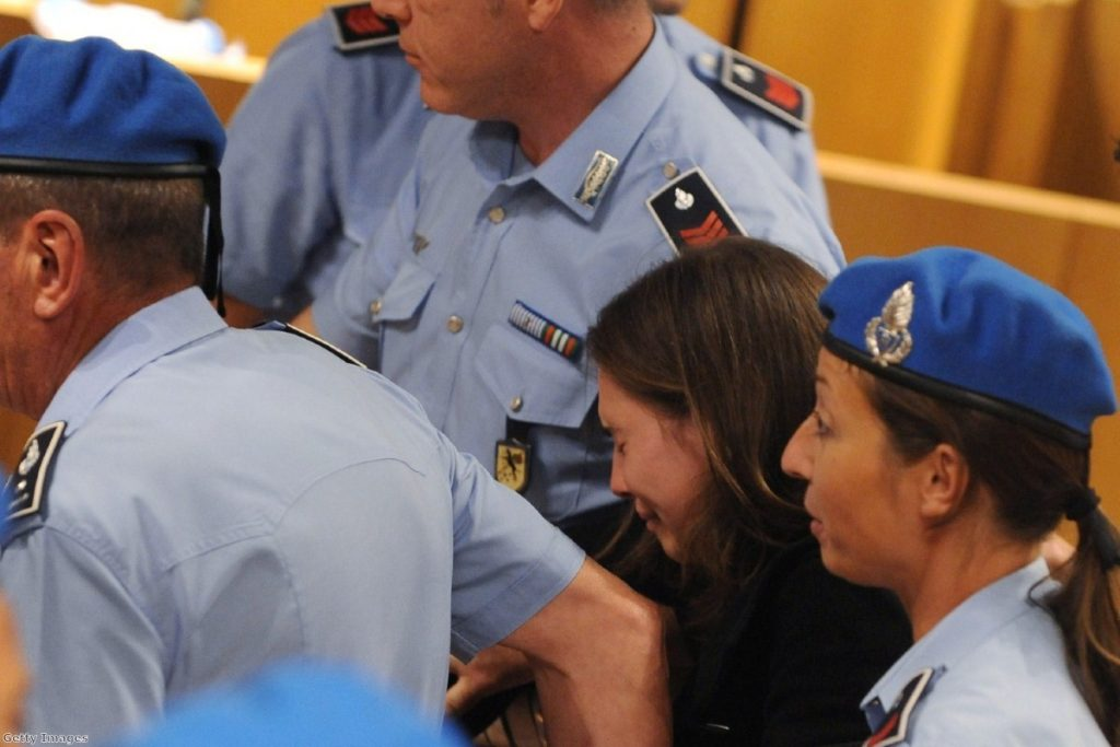 Amanda Knox is supported after hearing the news of her appeal yesterday.