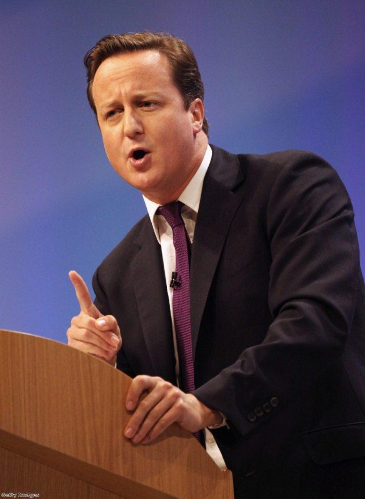 Better days ahead: Cameron praises leadership.