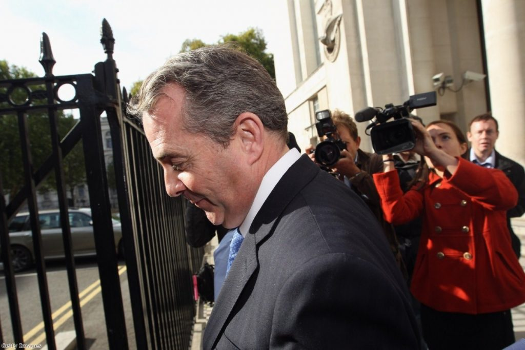 Liam Fox during the Adam Werritty scandal. The defence secretary eventually fell on his sword.