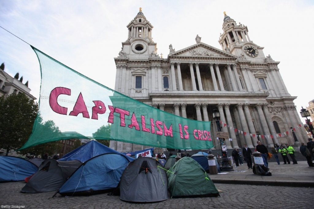Occupy protesters outside St Paul's Cathedral: Just snobs, according to Cameron