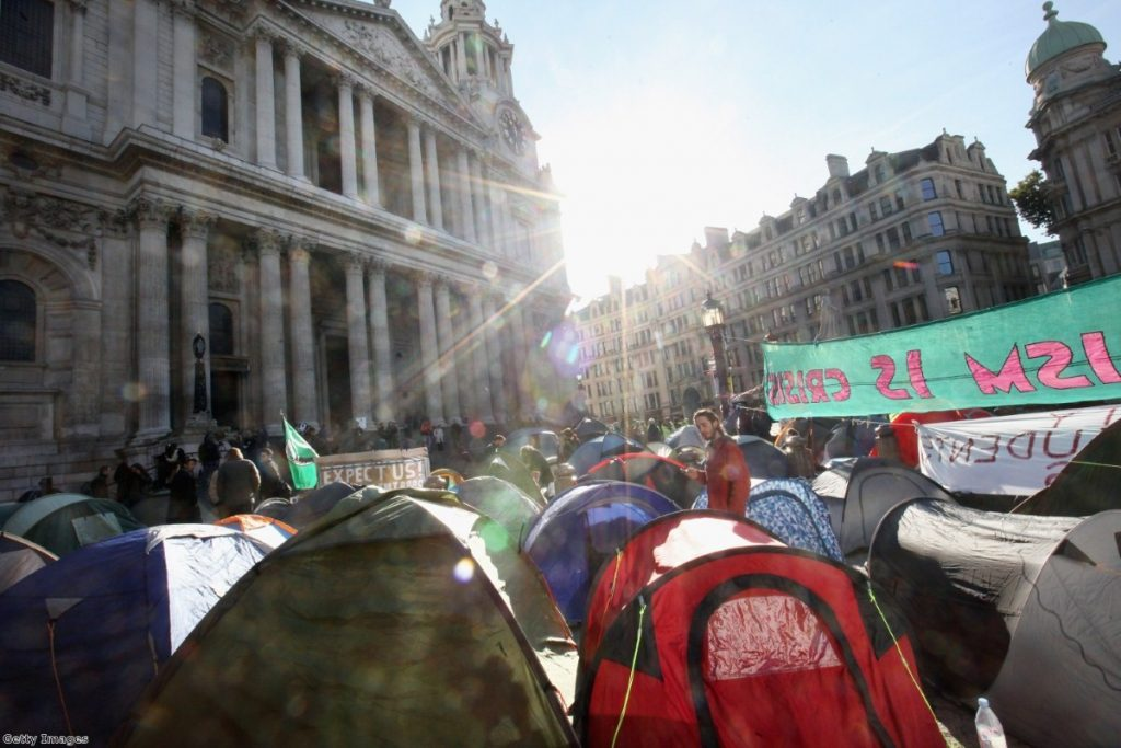 The camp at St Paul's has divided observers