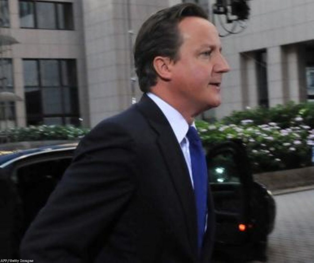 Cameron arrives at a European Council meeting. The UK's distance from Europe is becoming increasingly problematic.