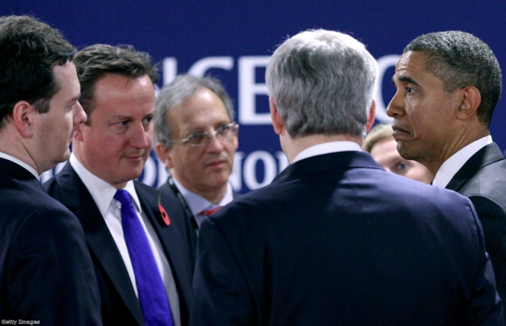 Fear and loathing: World leaders seemed unable to resolve the eurozone crisis during the G20 last week.