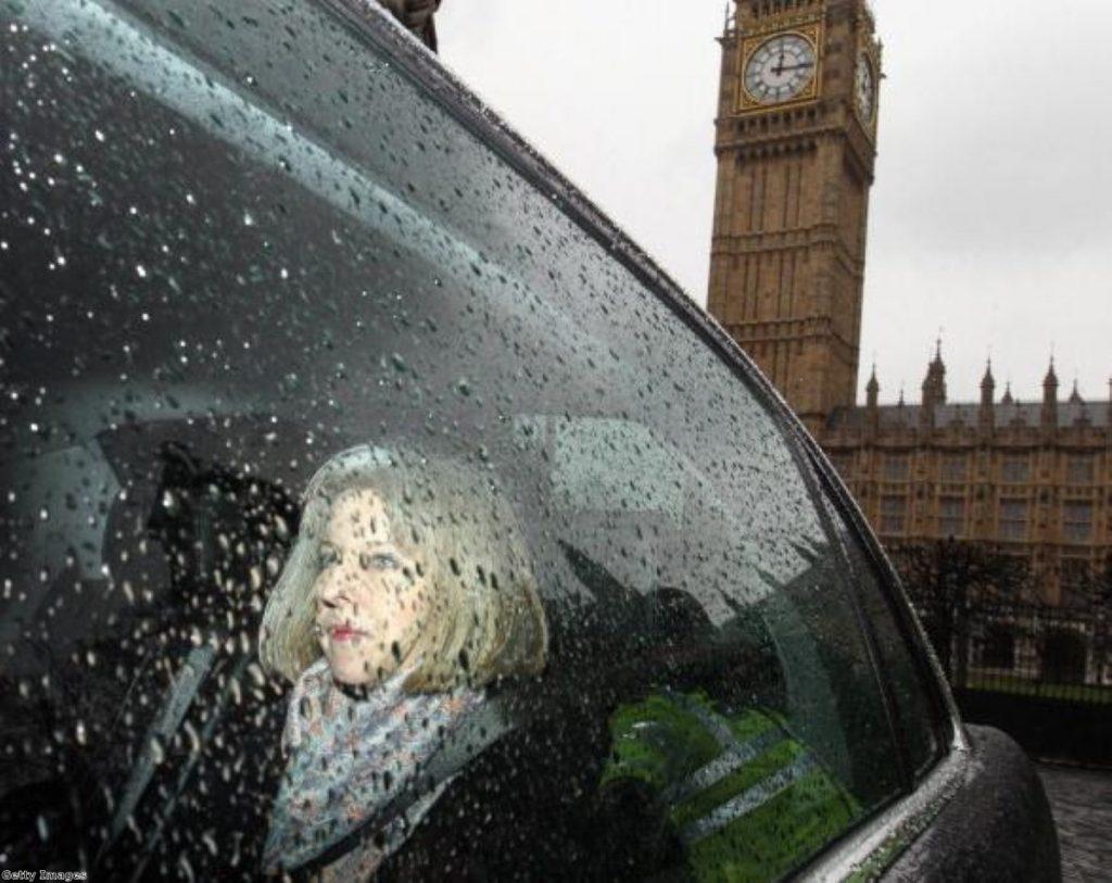 Theresa May and Michael Gove at Leveson.