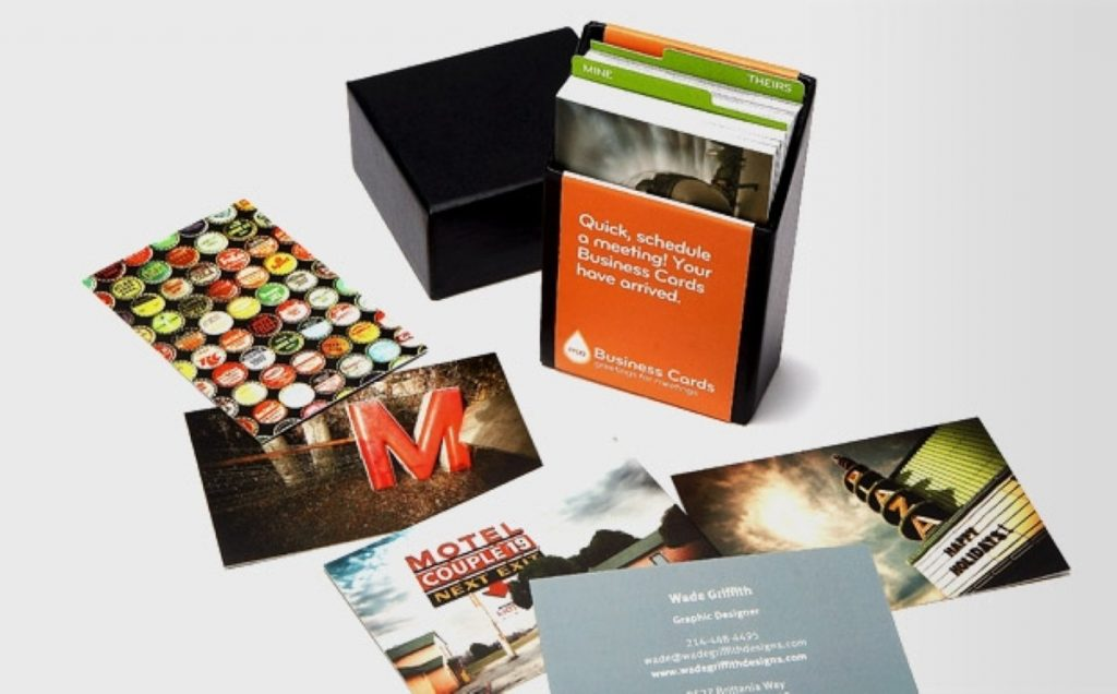 Business cards by MOO