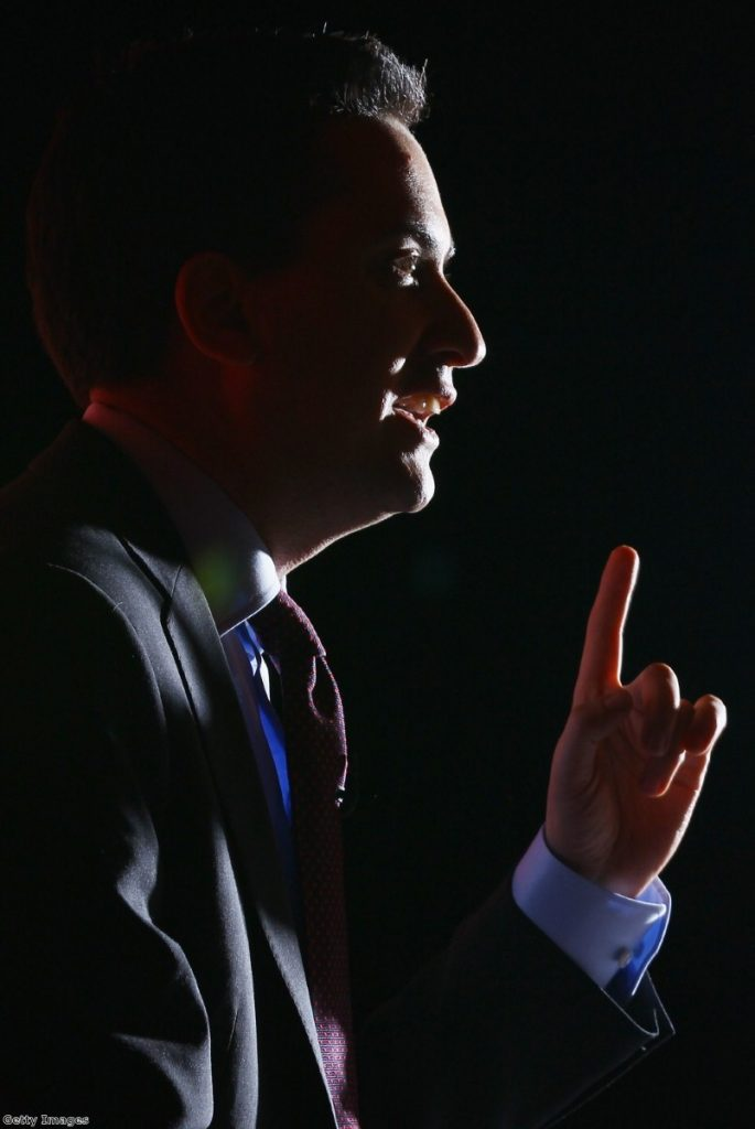 Miliband: Minor victory during a subdued session