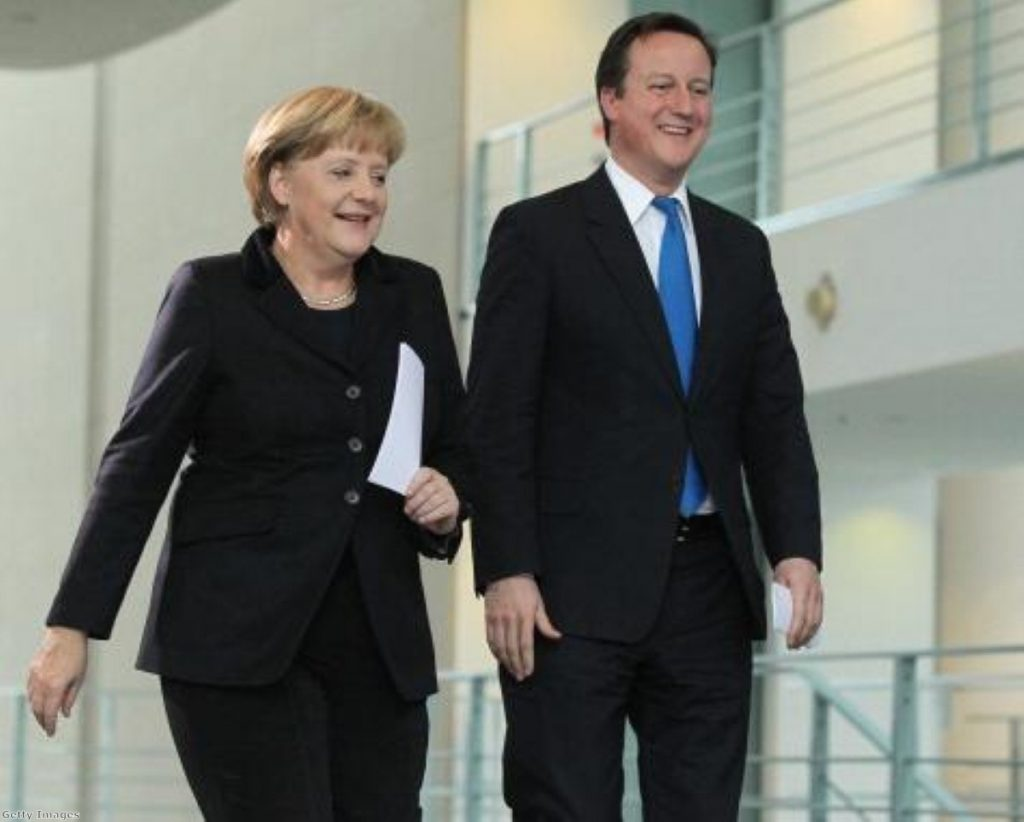 Merkel and Cameron's relationship will be tested by his party grouping in the European parliament