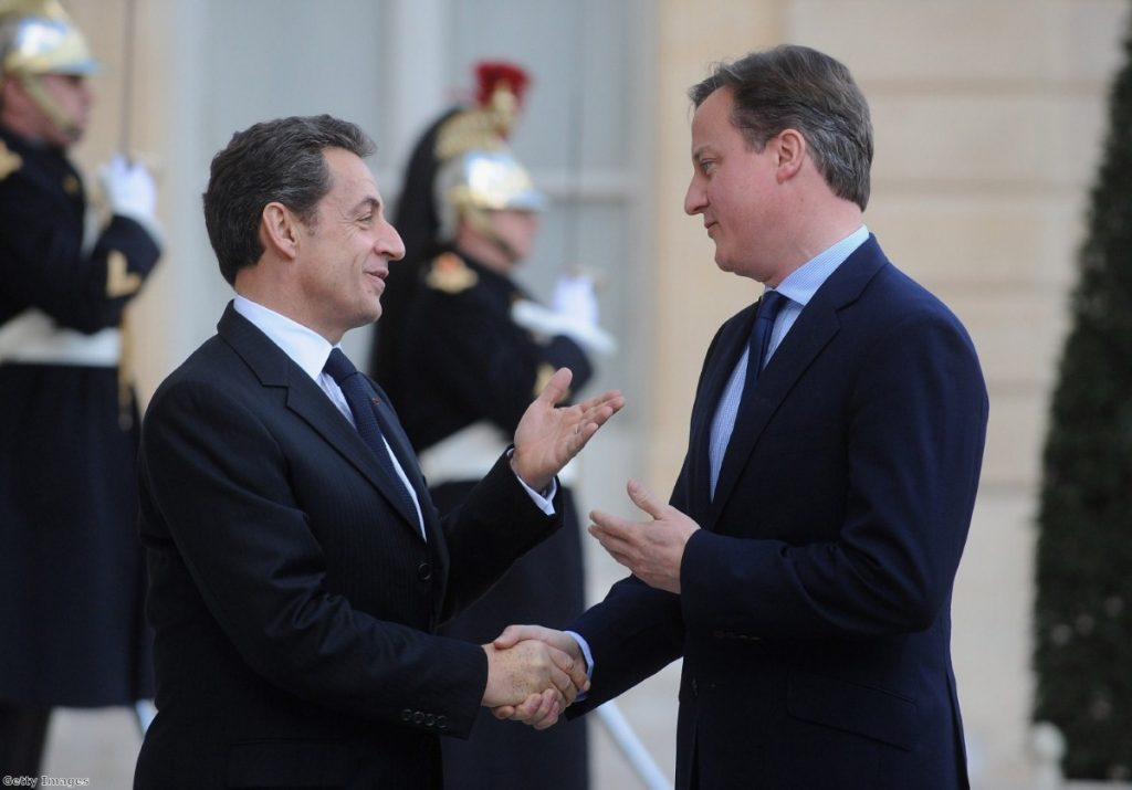 Troubled friendship: Cameron and Sarko have had their ups and downs.