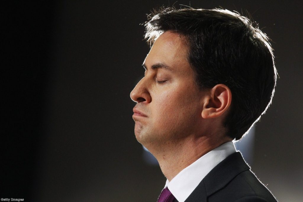 Near miss: Miliband scraped a draw from a sure-fire victory
