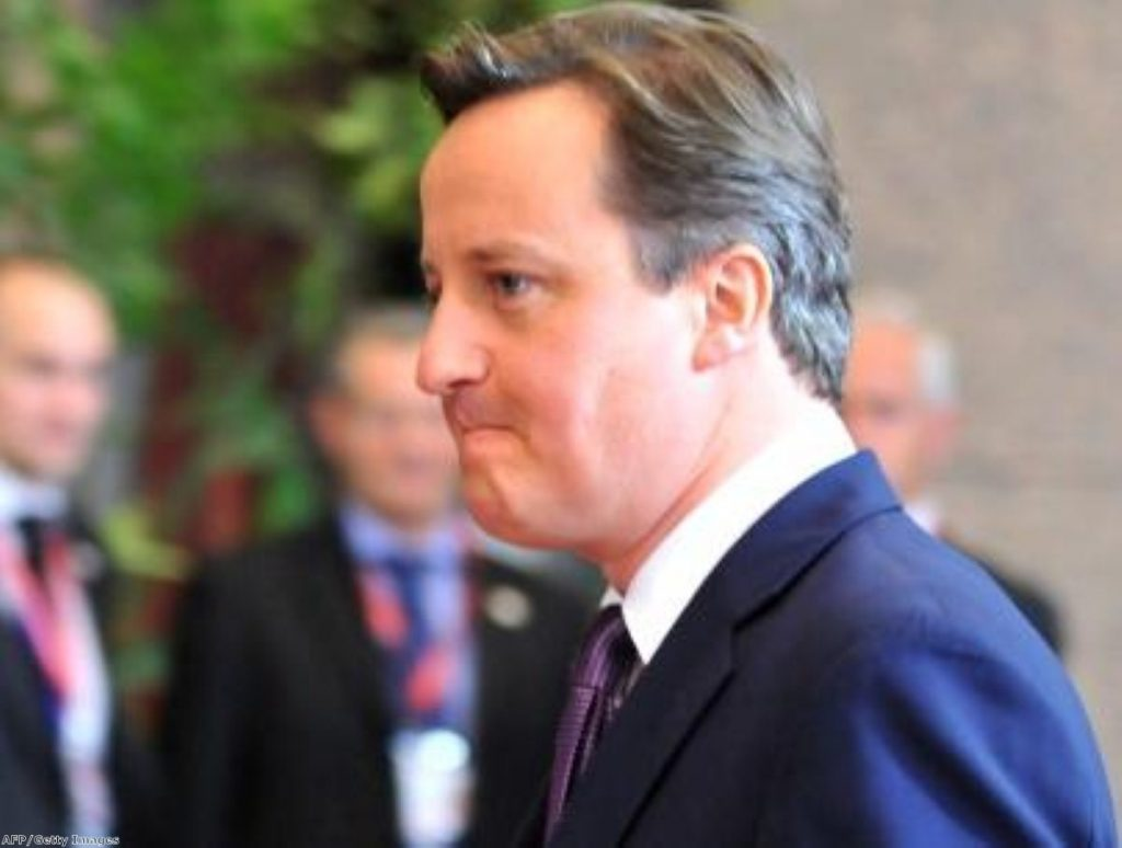 David Cameron refused to accept EU deal in Brussels summit