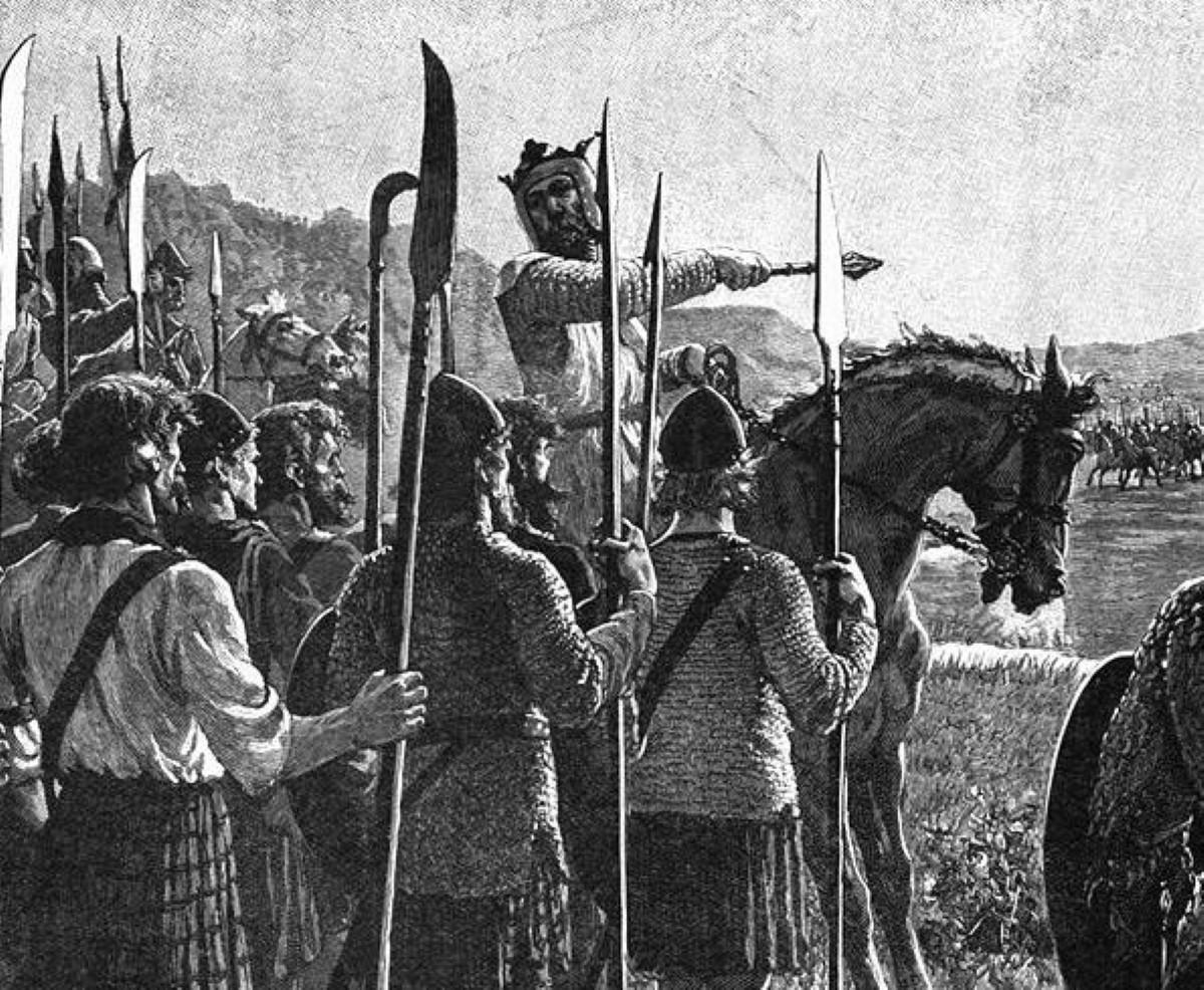 Alex Salmond reviews his troops