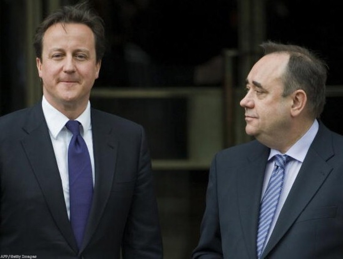 Reports suggest there is a certain element of mutual respect between Salmond and Cameron
