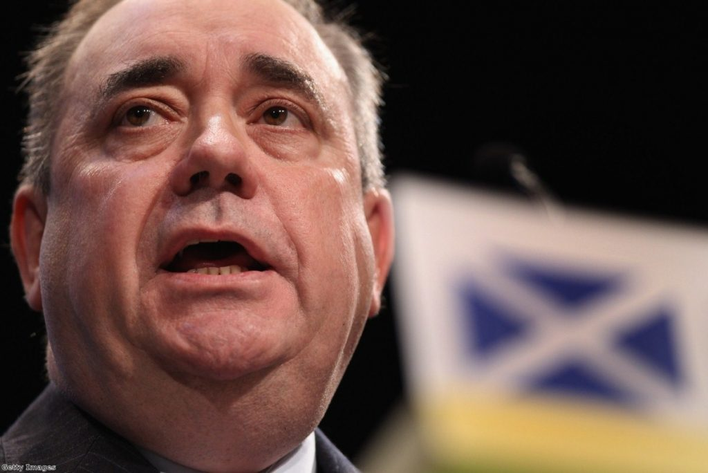 Alex Salmond says the Scottish government will assess Westminster's devolution package with three tests