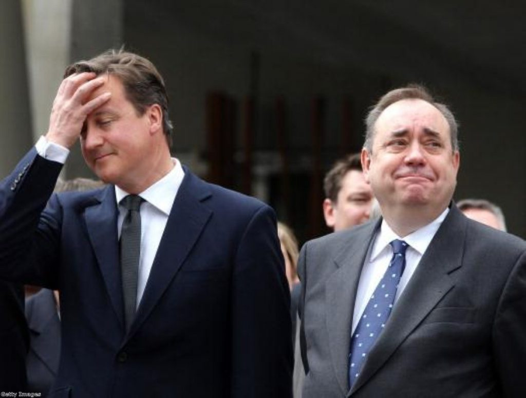 No TV debate for Cameron and Salmond