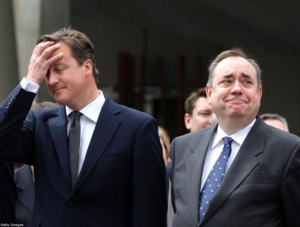 Cross purposes: Salmond brands Cameron 'dictatorial'