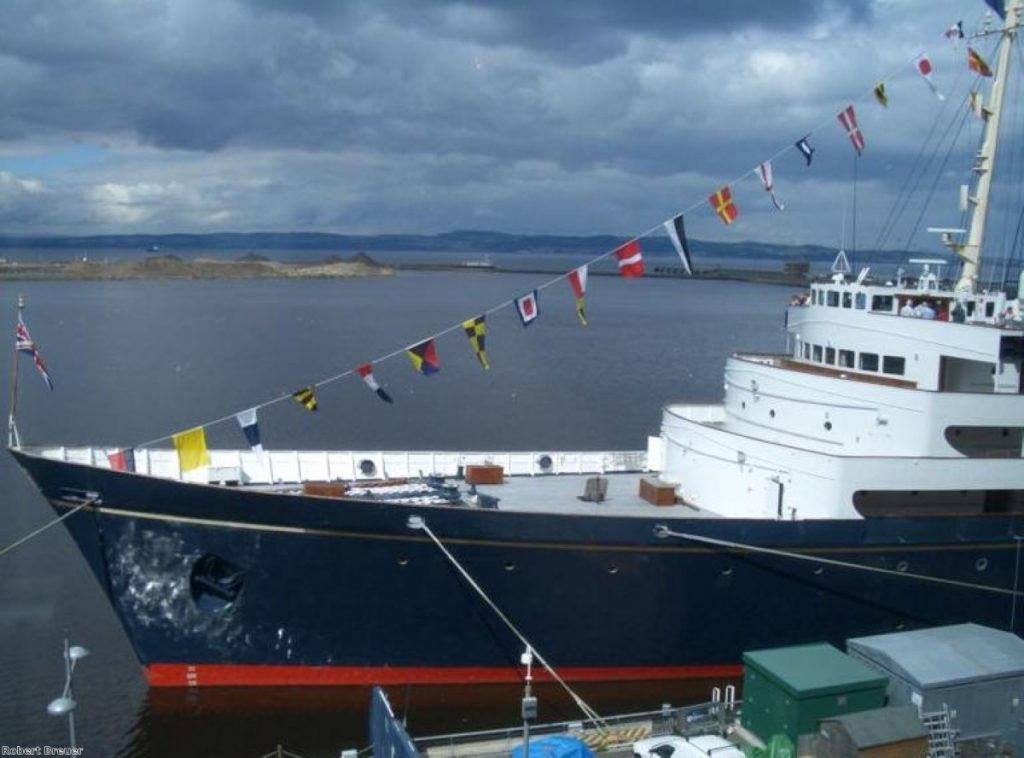 HM Yacht Britannia is now a visitor attraction