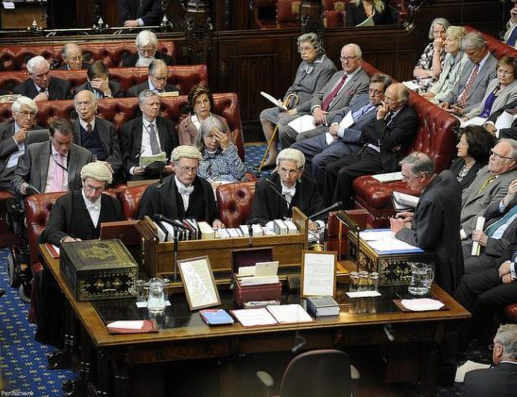 The Lords is not debating boundary changes today, as it had been hoping