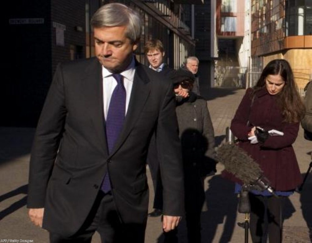 Chris Huhne just after his resignation: The outcome of the trial could have a significant impact on the Lib Dems in the future.