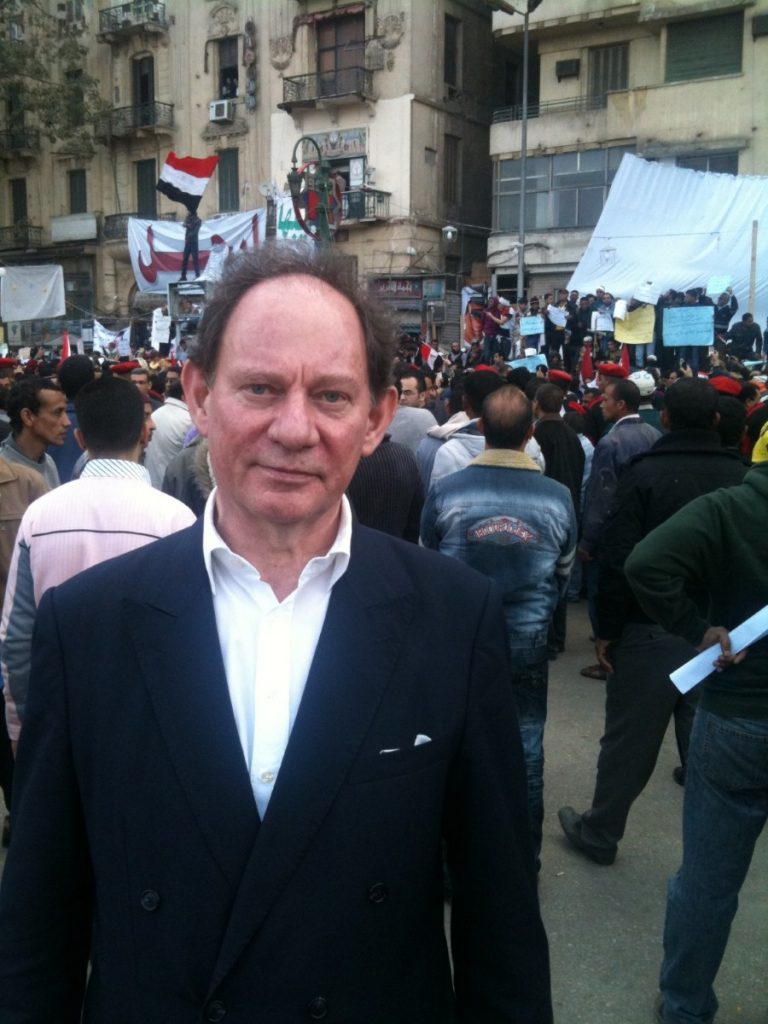 Edward McMillan-Scott in Tahrir Square after the revolution.