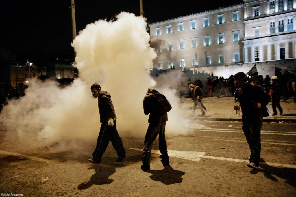 Riots have surrounded the key decisions on the Greek bailouts.