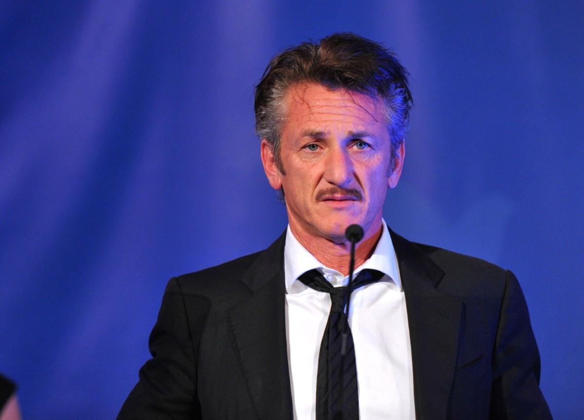 Sean Penn in Argentina yesterday.