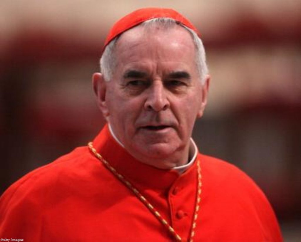 Cardinal Keith O'Brien stands by his comments opposing gay marriage