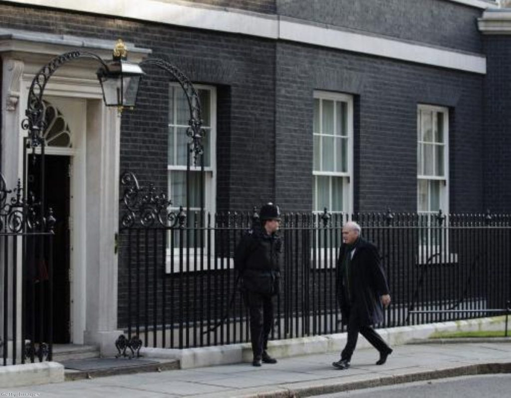 Business secretary Vince Cable in Downing Street