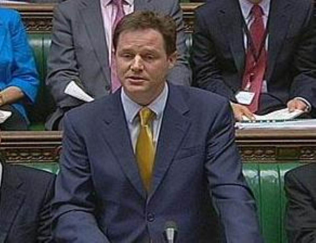 Unexpectedly, Clegg enjoyed the backing of Tory backbenchers this lunchtime