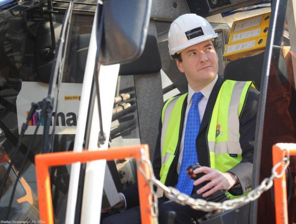 George Osborne: Just can't keep away from construction sites