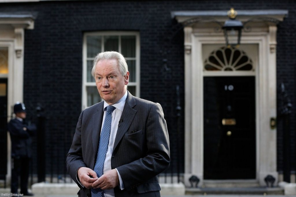 Francis Maude outside No 10, now - like the rest of Whitehall - the scene of bitter fighting between senior civil servants and ministers