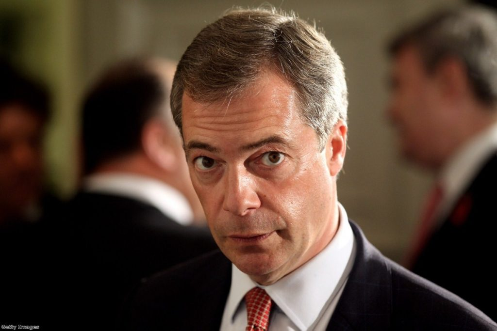 Under fire: Farage's party subject to 'smear campaign' ahead of local elections