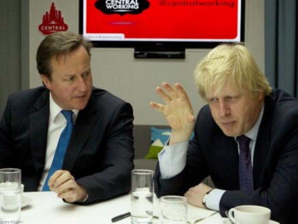 Boris Johnson and David Cameron are increasingly at odds this summer