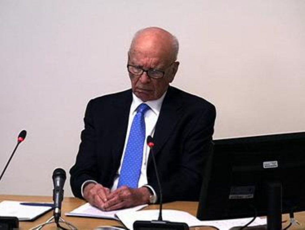 Murdoch faced Leveson today
