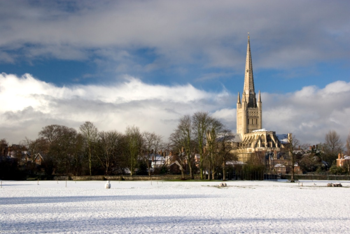 Norwich Cathedral - a symbol of the Church of England's position as the established church in England