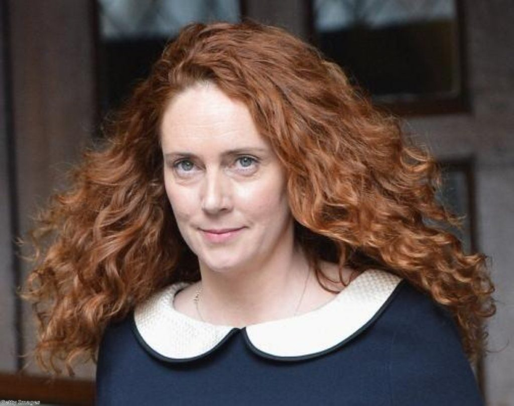 Rebekah Brooks on an earlier public outing. The phone-hacking trial is expected to go on for months.