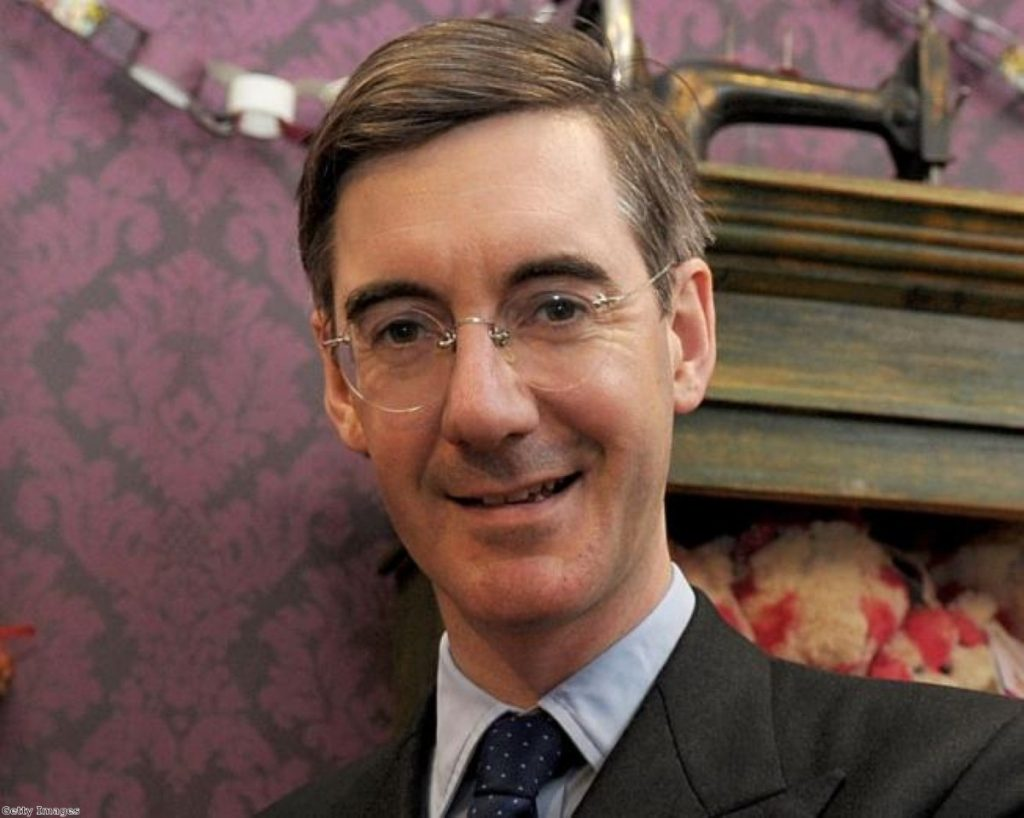 Jacob Rees-Mogg is well liked in parliament but was trying to limit damage to his reputation last night